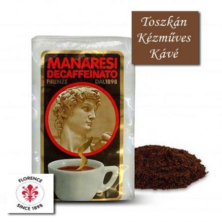 Caffé Manaresi Decaffeinato koffeinmentes őrölt arabica kávé 250 g