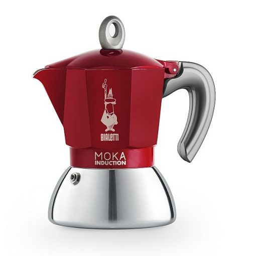 Bialetti Moka Induction 4 személyes inox kávéfőző piros