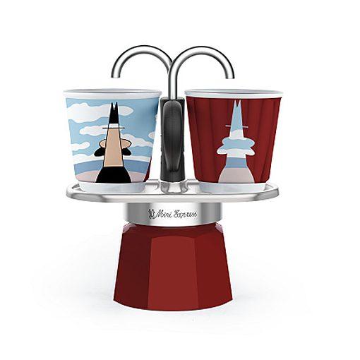 Bialetti Mini Express Magritte kotyogós kávéfőző szett
