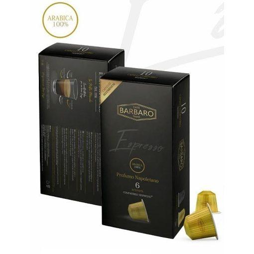 Caffé Barbaro Espresso 100% arabica alumínium Nespresso kapszula 10 db