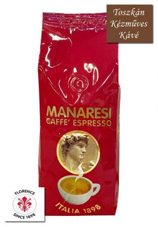 Caffé Manaresi Espresso Rosso prémium olasz szemes kávé 250 g