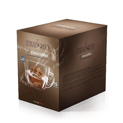 Stradiotto extra sűrű epres forró csokoládé 15×25 g