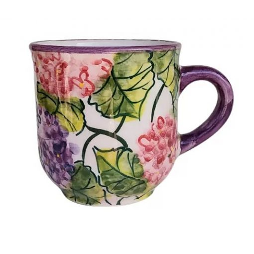 Hortenzia kerámia kávés bögre 2 dl