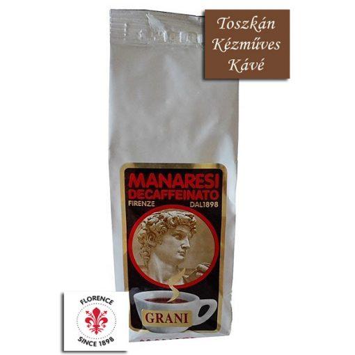 Caffé Manaresi Decaffeinato koffeinmentes szemes arabica kávé 250 g