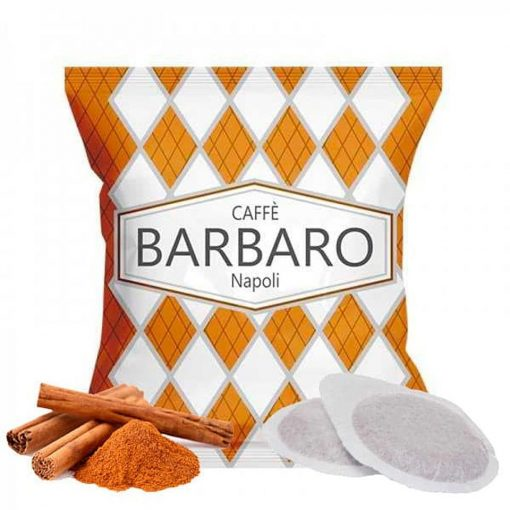 Caffé Barbaro fahéjas ízesítésű prémium ESE Pod kávépárna 10 db