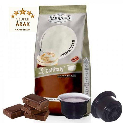 Caffé Barbaro csokoládés ízesítésű Tchibo Cafissimo kompatibilis kapszula 10 db