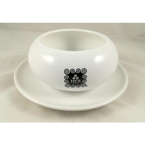 Epos Caffé porcelán cukortartó+alátét tányér