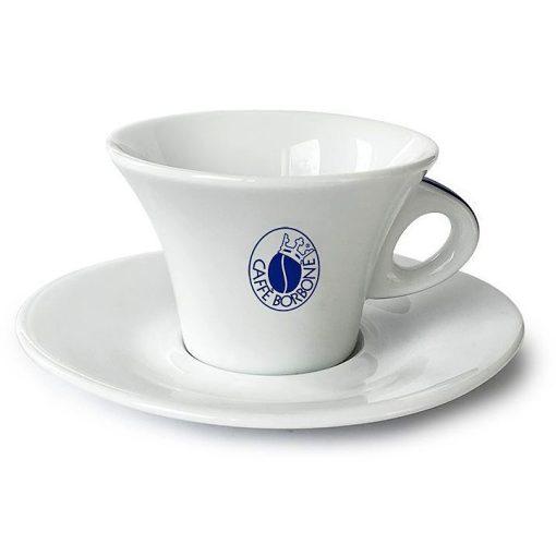 Caffé Borbone porcelán cappuccino csésze + csészealj