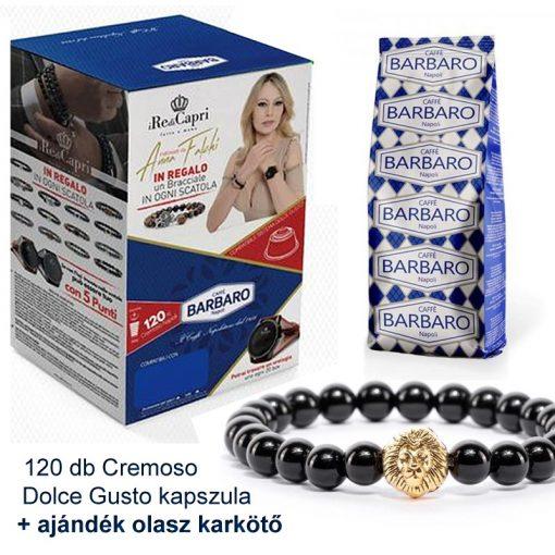 Caffé Barbaro 120 db Cremoso Dolce Gusto kapszula + ajándék karkötő