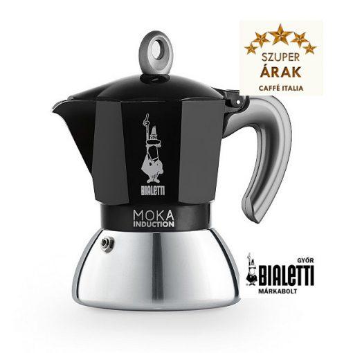 Bialetti Moka Induction 4 személyes inox kávéfőző fekete
