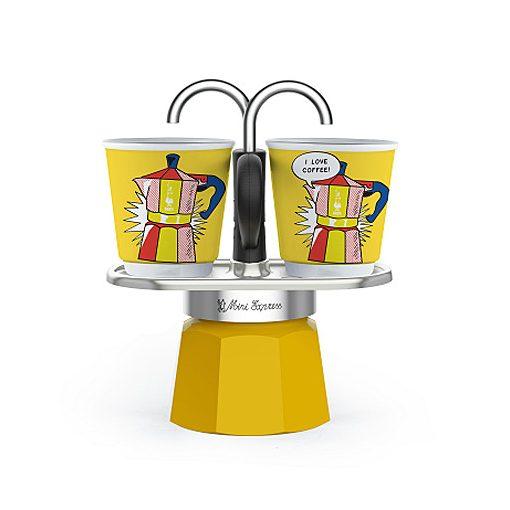 Bialetti Mini Express Lichtenstein kotyogós kávéfőző szett