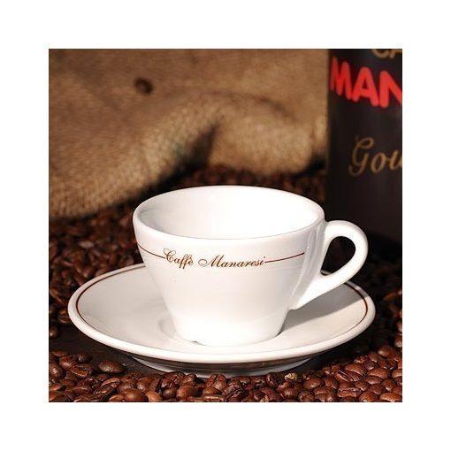 Caffé Manaresi porcelán cappuccino csésze + csészealj